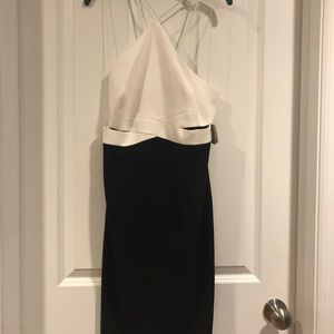 Aidan Mattox black and Ivory dress